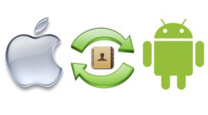 Как перекинуть контакты с Айфона на Андроид